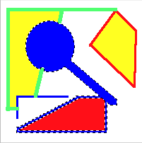 Sample image after magic wand tool