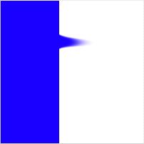 Blue stripe, smudged, 100% pressure