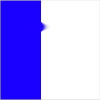 Blue stripe, smudged, 50% pressure
