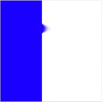 Blue stripe, smudged, blue color